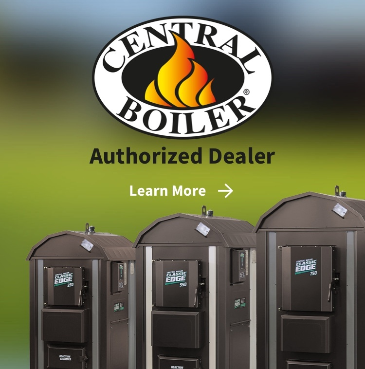 Central Boiler logo and boilers - Authorized Dealer
